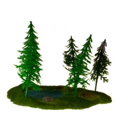 JR3772 Pinetree Stand with Pond