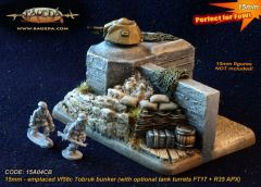 15A04CB Vf58c Tobruk bunker emplacement (with optional tank turrets FT17 + R35 APX)