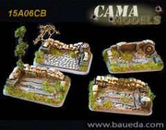 15A06CB Four HMG / Mortar Scenic Bases