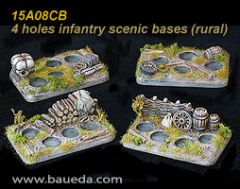 15A08CB Four Infantry Scenic Bases
