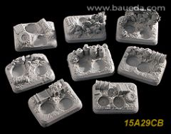 15A29CB Command or Weapon Team Desert Scenic Bases x6