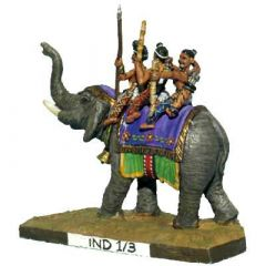 IND3 Indian Elephant without Howdah, Command or Line