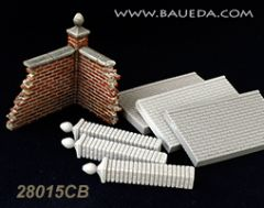 28015CB Garden Brickwall Set
