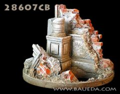 28607CB Ruined Fragment Government Building Scenic Base
