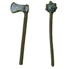 W20 Maces (miniature on the right)