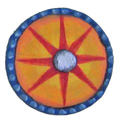 S28 Byzantine Small Round Shields with Bosses