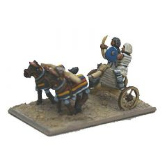 NWK5 Egyptian Chariots, Lamellar crew, horse, no armour