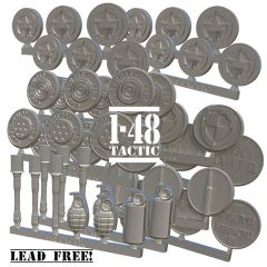 48MTS01 1-48 US Airborne tokens set metal counters