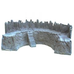 BK205 28 mm Log Palisade Bastion Steps
