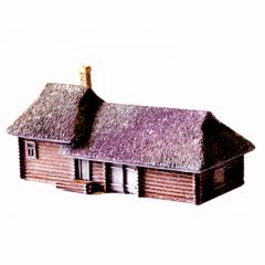 TMB37 Large Log House / Barn with Thatch Roof