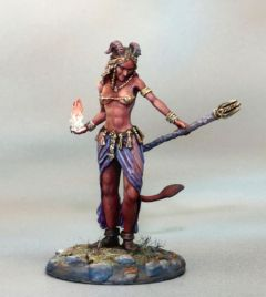 DSM7367 Visions in Fantasy Female Demonkin Mage with Staff