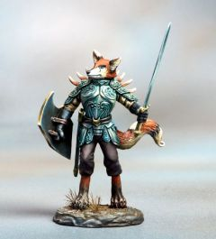 DSM7654 Critter Kingdoms Kitsune Warrior with Sword and Shield