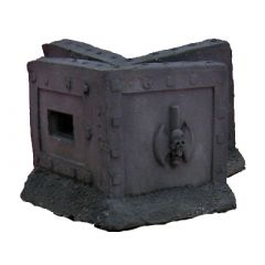 JR6708 Fortification Wall with Skulls x2