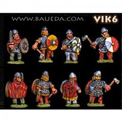 VIK6 Viking Huscarls with Shield and Sword