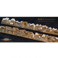 ACW1 Infantry Entrenchments x4