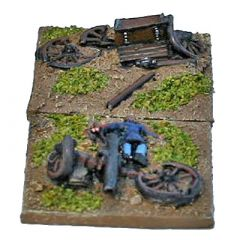 ACW403 Wrecked Guns and Limbers