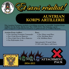 ESR XEML AU005 Austrian Korps Artillerie (Early-Mid-Late War) Attachment Pack