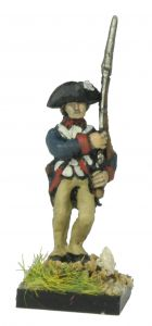 AWA10 American Infantry in 1779 Regulation Uniform and Tricorne, marching