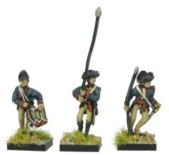 AWA14a American Infantry Command in 1779 Regulation Uniform and Tricorne Drummers