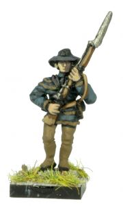 AWA5 Continental Troops in Hunting Shirt and Slouch Hat, advancing