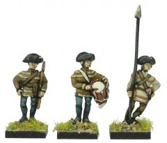 AWA7 Continental Infantry Command in Hunting Shirt and Tricorne