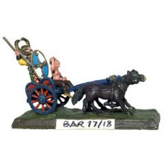 BAR17 Double Arched Chariot; ponies x2, charioteer and driver