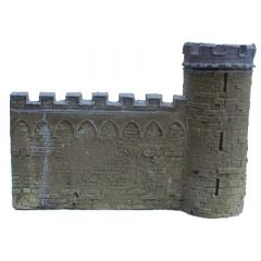 BC305 28mm Wall with Tower at Right-hand end