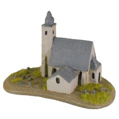 BD308 6mm European Church with Graveyard