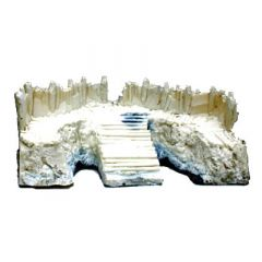 BK209 28 mm Log Palisade Bastion Ramp