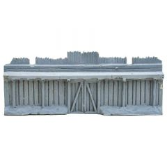 BK404 15mm Straight Palisade Wall with Gate