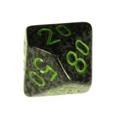 Mottled D10 with numbers in 10s Dice