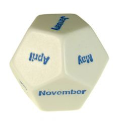 Months of the Year D12 Dice