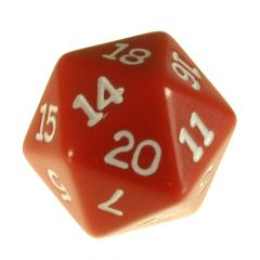 Solid Colour D20 Red
