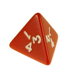 Solid Colour D4 Dice Red