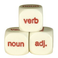 Adjective, noun, verb D6 Dice