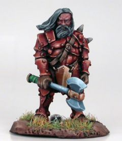 DSM7203 Visions in Fantasy Male Dwarven Fighter with Weapon Assortment