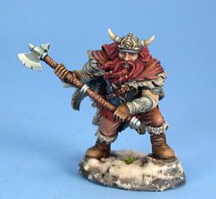 DSM7425 Visions in Fantasy Male Dwarven Fighter with Great Axe