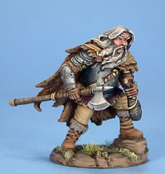 DSM7426 Visions in Fantasy Male Dwarven Fighter with Axe and Wine Skin