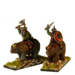 DWF105 Dwarven Bear Riders with Hand Weapons