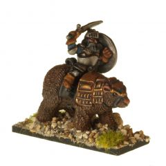 DWF108 Dwarves with Hand Weapons on Armoured Bears