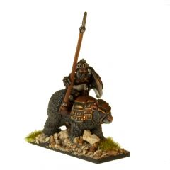 DWF110 Dwarven Armoured Bear Riders with Lances