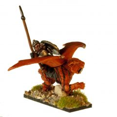 DWF111 Dwarven Winged Tiger Rider with Lance