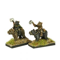 FAB401 Bears with Axes Riding larger Bears