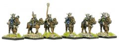 FNT403 Wasteland Barbarian Mounted Raiders with Hand Weapons