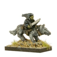 FOG408 Goblin Warriors with swords on Dire Wolves