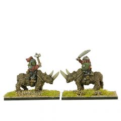 FUG601 Ogres riding on Woolly Rhinoceros x3