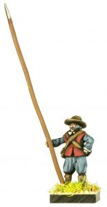 GR5 English Civil War Unarmoured Pikemen in Hat x8