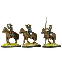 GR8 English Civil War Cavalry Command in Hat x4