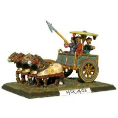 HDC4 Four-horse Chinese Chariot with armoured horses