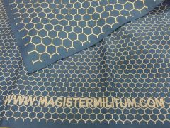 "Blue Double Sided Hex Mat, 1"" and 2"" Hex Sizes"